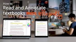 How to Read and Annotate Your PDF Textbooks - Three Tips