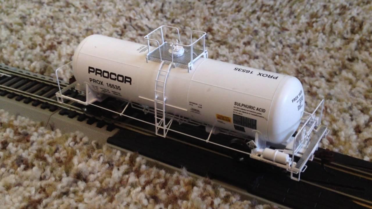 Model Railroad Reviews Athearn Rtr Procor Acid Tank Car Ho Scale