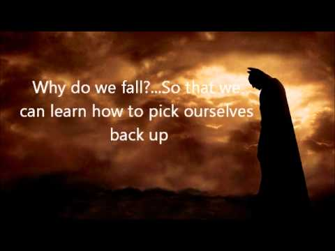 Batman Why Do We Fall Wallpaper Best Batman Begins Quotes Youtube