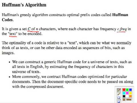 Topic 13 C Huffman Codes