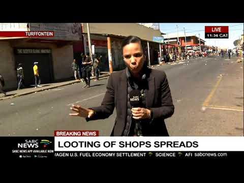 Looting scenes in Turfontein | Gillian Pillay reports
