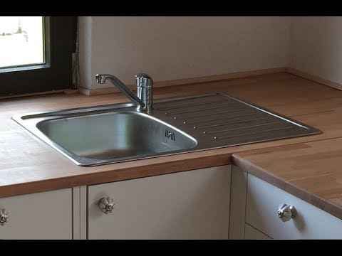 Heimwerker Spüle, Spülbecken in Küche selber einbauen, Tipps - YouTube