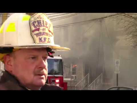 Bayonne Fire Department Battling a 5th Alarm Structure Fire on Andrew Street