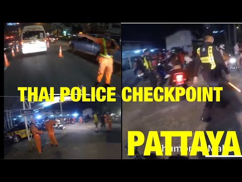 Ducati busted by the Thai Police Pattaya Thailand Desmo P