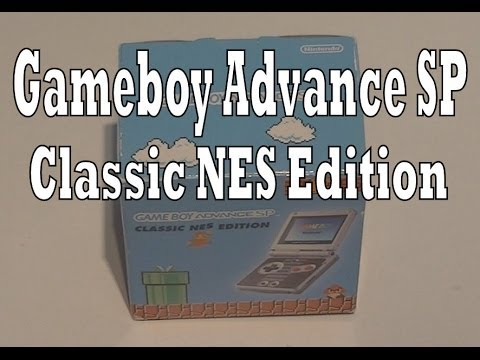 Gameboy Advance SP Classic NES Edition Unboxing (Nintendo)