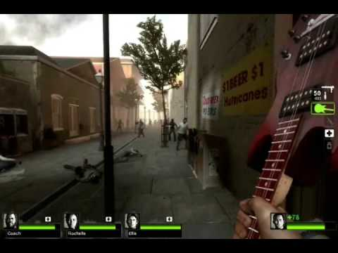Left 4 Dead 2 gameplay (The Parish chapter 1)