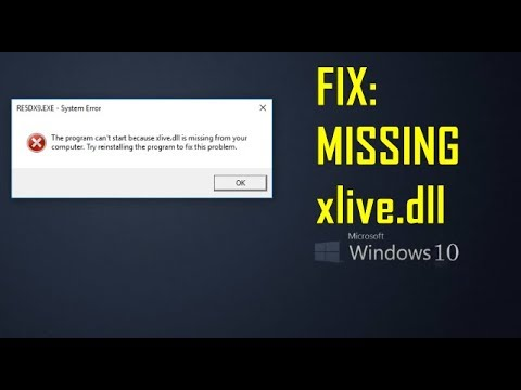 How to FIX: xlive dll is missing from Windows 10 - [100% Working - Resident  Evil 5 PC]