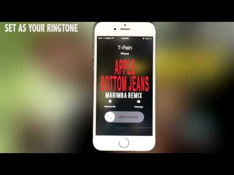 T- Pain Feat. Flo Rida Apple Bottom Jeans Marimba Remix Ringtone ...