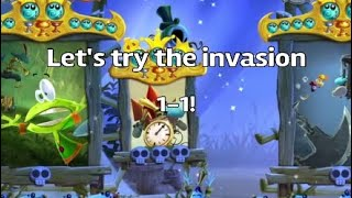 Rayman Legends   Let's Try The Invasion 1-1! + An Awesome Land Lums