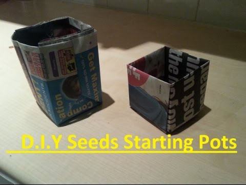 DIY Paper Pots For Starting Seedlings