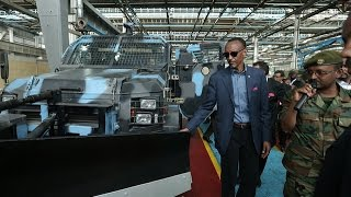 President Kagame visiting Ethiopia's Metals and Engineering Corporation- Ethiopia, 17 April 201