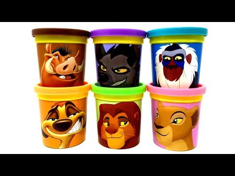 The Lion King Movie Play-Doh Can Heads & Surprise Toys Rafiki Shenzi Pumbaa Timon Simba Nala