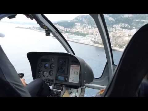 EC-130 Helicopter: Nice to Monaco Heliport - Landing View from Cockpit AND Heliport!!