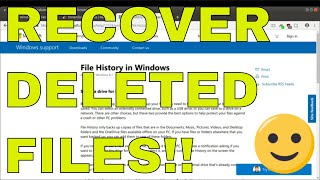 Recover Windows 10 Deleted FIles