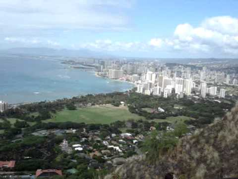 Diamond Head along the Honolulu skyline just beyond Waikiki, December, 2006.