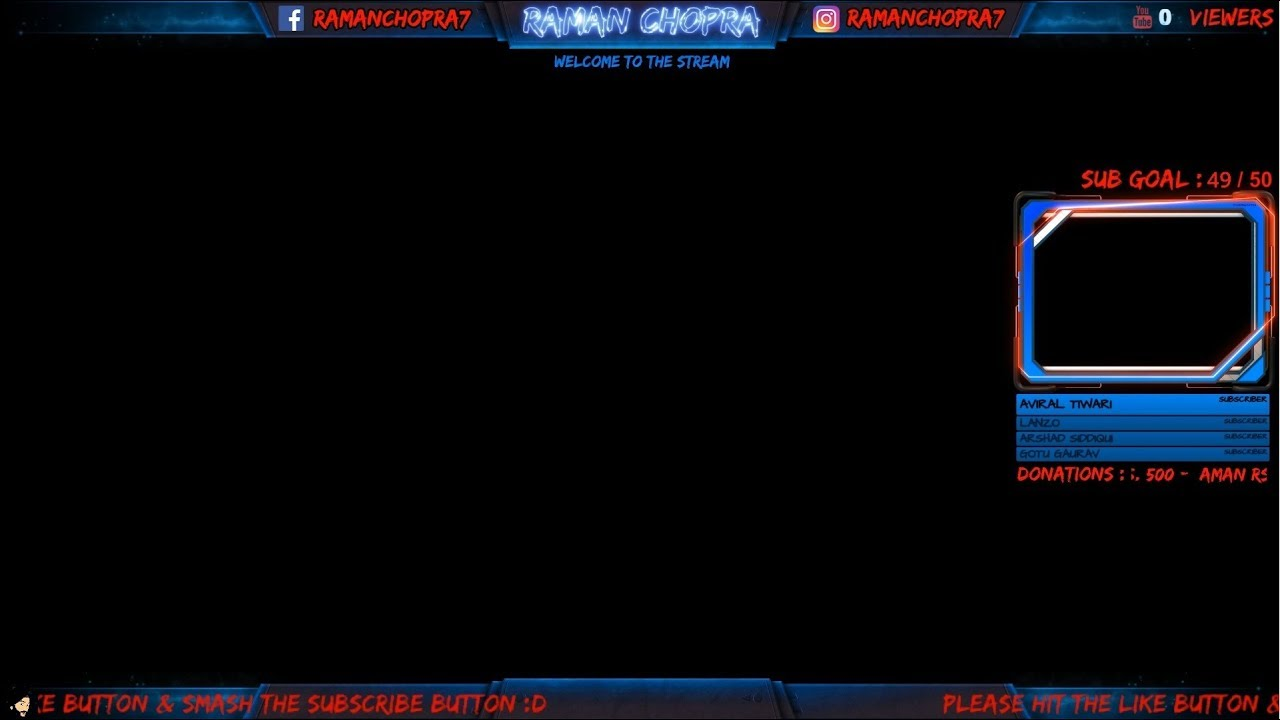 my new obs streaming template youtube
