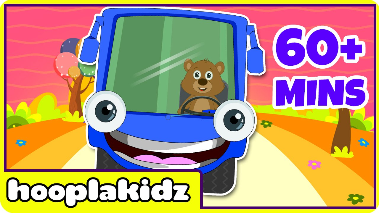 Wheels On The Bus More Nursery Rhymes From Hooplakidz 60 Minutes Compilation You