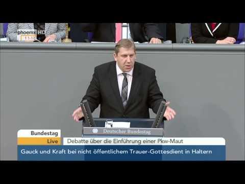 Pkw-Maut: Debatte im Bundestag Teil 3 am 27.03.2015