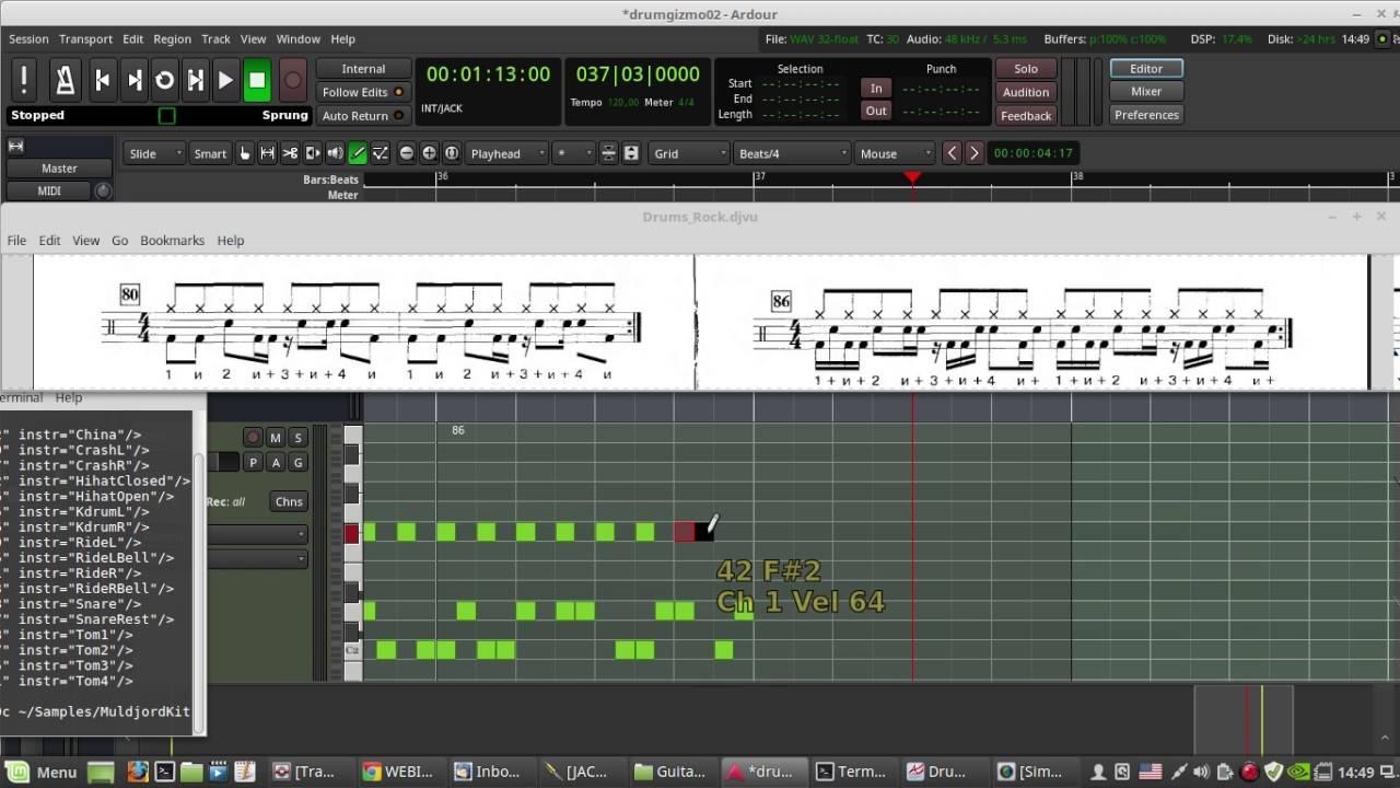 How to create midi drum track ...
