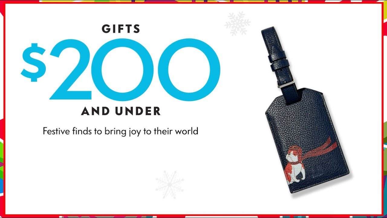 Crazy Good Cheer: Holiday Gifts Under $200 at Neiman Marcus - YouTube