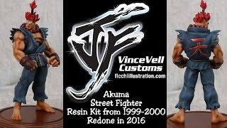 Akuma Street Fighter Resin Kit from 1999-2000 Redone in 2016