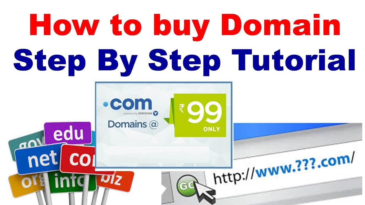 How To Buy A Domain Name For Your Website - YouTube