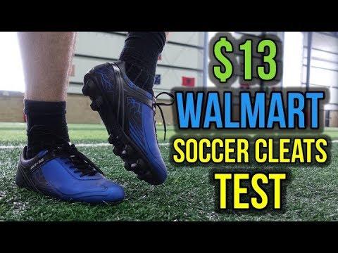 60720597b507 TESTING $13 WALMART SOCCER CLEATS - YouTube