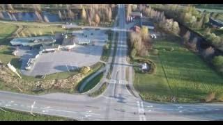 Ilmavideo Nivan risteyksestä Kiuruvedellä 3.10.2016