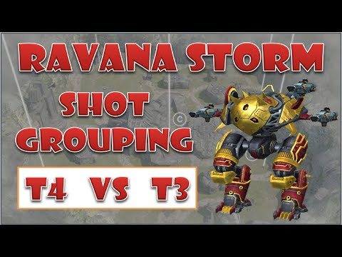 Tier 4 vs Tier 3 Ravana Storm with shot grouping war robots
