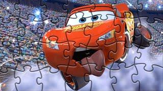 ачки Молния Маквин собираем кубики пазлы для детей с героями мультика Тачки Lightning McQueen