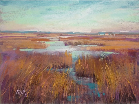 Pastel Painting Demo of a Marsh using Color Schemes
