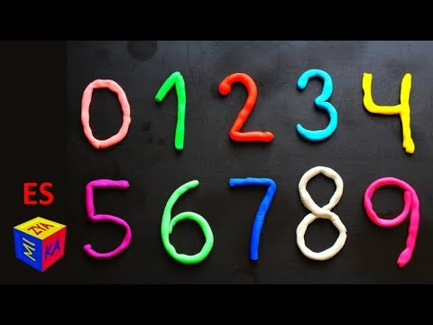 Los números en español para niños. Como hacer los números del 0 al ...