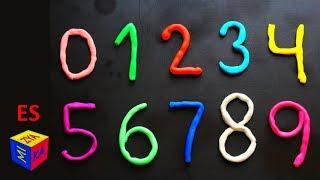 Los números en español para niños. Como hacer los números del 0 al 9 en plastilina Play-Doh. thumbnail