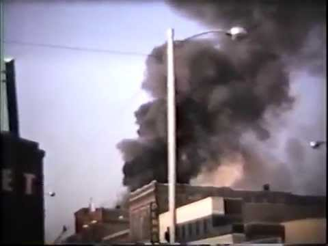 Traverse City, MI,  downtown fire December 12, 1963