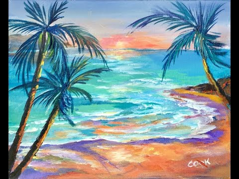 How to Paint Paradise Lost LIVE with Ginger Cook for the Beginner Acrylic Painting Artis