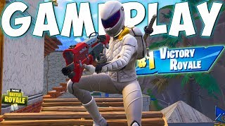 THE NEW WHITEOUT SKIN GAMEPLAY in Fortnite Battle Royale