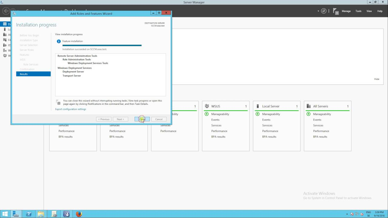 SCCM 2012 R2 - Install Windows deployment services (WDS) and enable PXE  role in SCCM