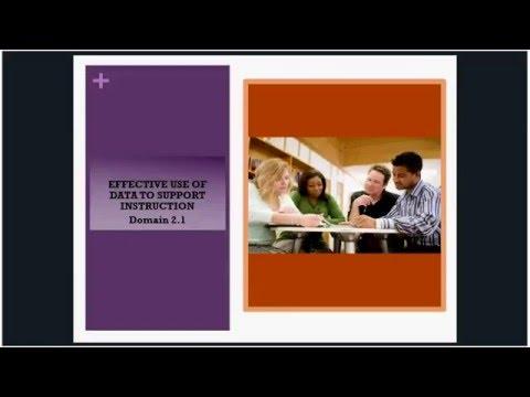 Principal Effectiveness Webinar  3 - Domain 2: Instructional Leadership