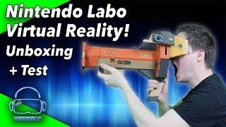 Die Nintendo VR Brille! Was kann sie? Unboxing und Test! [Nintendo LABO Toy-Con 04 VR KIT]