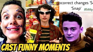 Stranger Things Season 3 Bloopers and Funny Moments(Part-1) | Millie Bobby Brown Funny