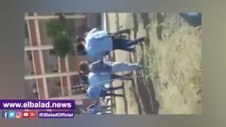 «كارثة تعليمية» حصان يقتحم مكتب مدير مدرسة ببورسعيد.. فيديو وصور
