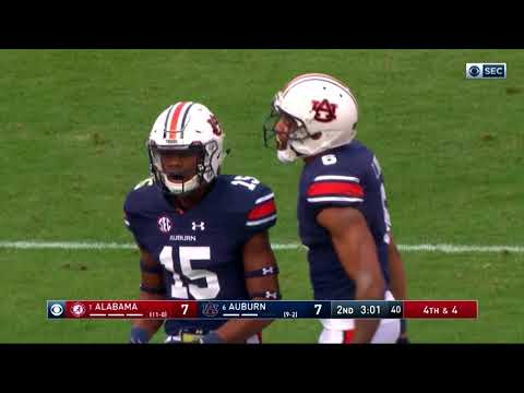 Auburn Football vs Alabama Highlights