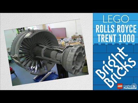 LEGO® Rolls-Royce Trent 1000 Jet Engine - Bright Bricks Timelapse