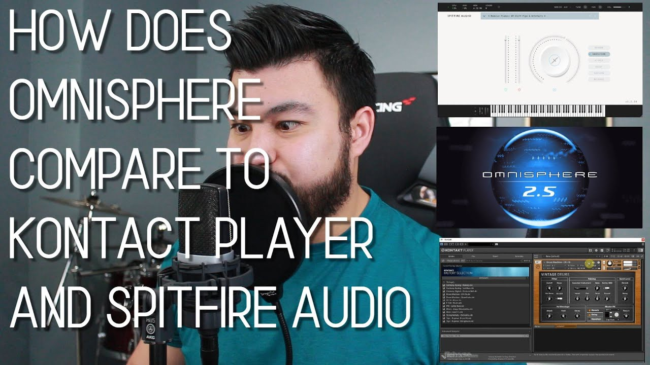 How does Omnisphere compare to Kontact Player and Spitfire Audio?