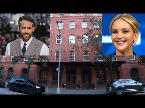 Walk around Ryan Reynolds and Jennifer Lawrence NYC apartment and neighborhood [4K] - TriBeCa