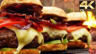 Кінцева ягняти чізбургери! - Ліс АСМР готування 4К