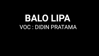BALOLIPA KARAOKE KUALITAS HD (IRI BILANG BOSS)