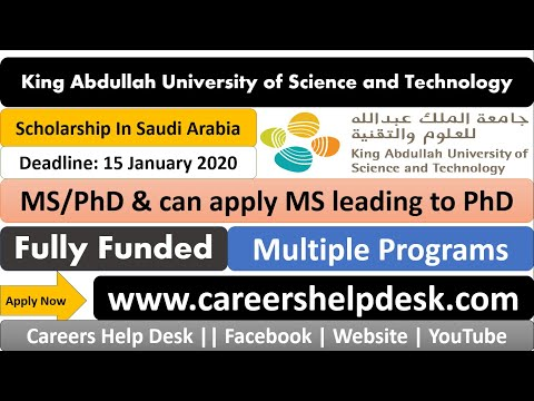 KAUST-Fully Funded Scholarship 2020    International Students    Details & Submission in Urdu/Hindi