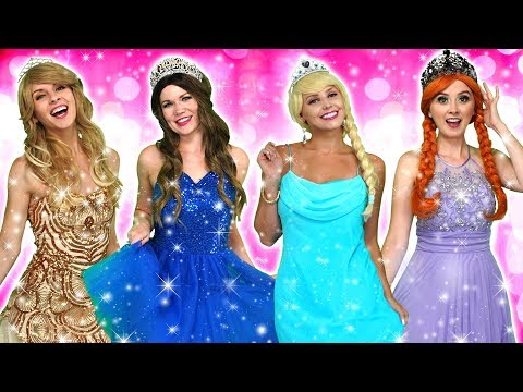 DISNEY PRINCESS MAGIC FASHION SHOW Elsa and Anna Belle Aurora and Maleficent Totally TV