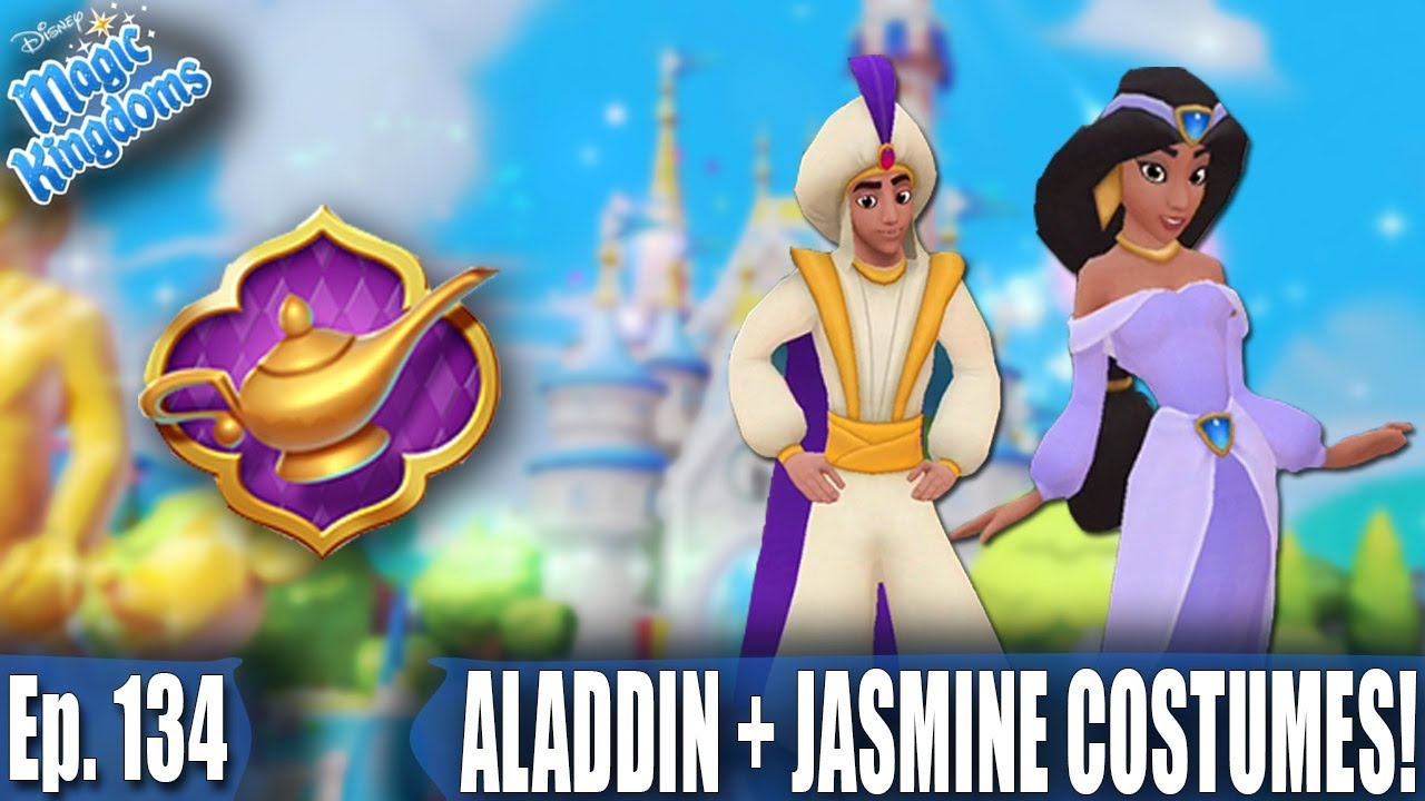 ALADDIN AND JASMINE COSTUMES! - Disney Magic Kingdoms Gameplay - Ep. 134  sc 1 st  YouTube & ALADDIN AND JASMINE COSTUMES! - Disney Magic Kingdoms Gameplay - Ep ...